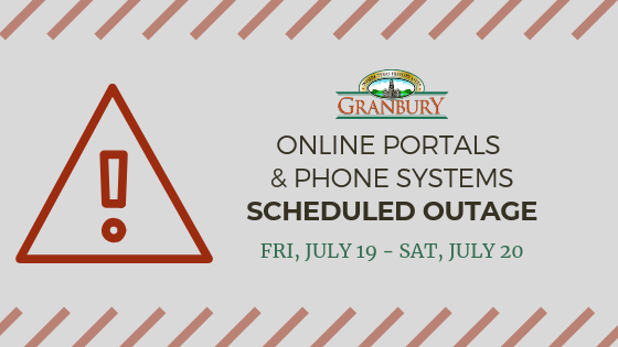 Online Portals and Phone Systems Scheduled Outage 7_19-7_20