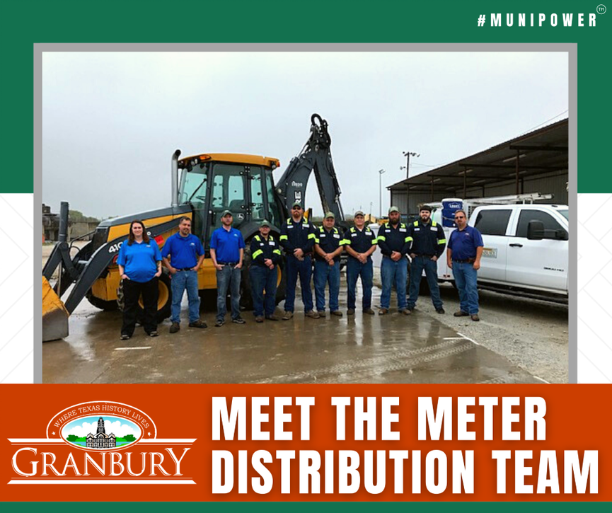 Meet the Water Distribution Team Graphic