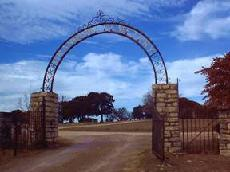 Granbury Municipal Cemetery entrance